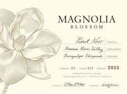 MAGNOLIA BLOSSOM PINOT NOIR BACIGALUPI VINEYARDS RUSSIAN RIVER VALLEY 2015