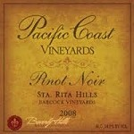 PACIFIC COAST VINEYARDS SANTA RITA HILLS BABCOCK PINOT NOIR 2008
