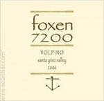 FOXEN 7200 VOLPINO RED SANTA YNEZ VALLEY  2014