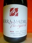 SIERRA MADRE VINEYARD SANTA MARIA VALLEY  PINOT NOIR 2007